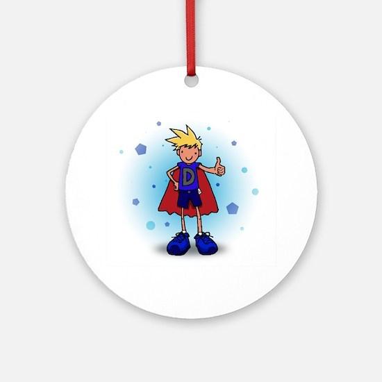 Blonde D-Boy with Pump Ornament (Round)