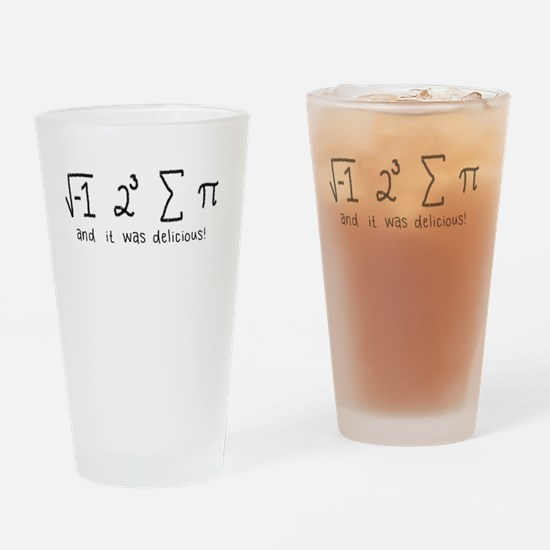 """""""i 8 sum pi"""" (And it was delicious!) Drinking Glas"""
