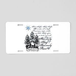 Silent Night Aluminum License Plate