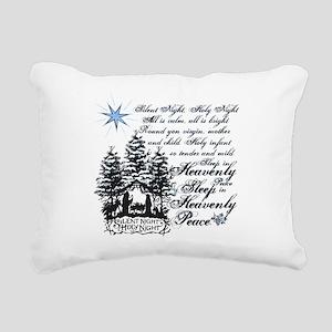 Silent Night Rectangular Canvas Pillow