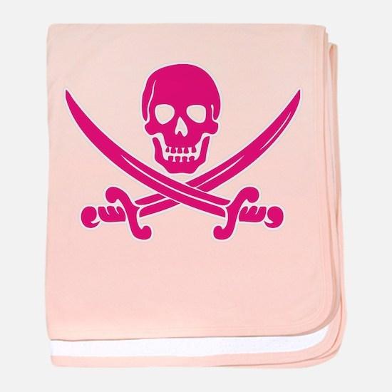 Pink Calico Jack baby blanket