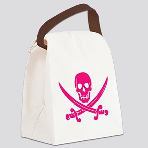 Pink Calico Jack Canvas Lunch Bag