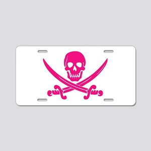 Pink Calico Jack Aluminum License Plate