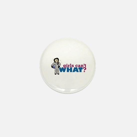 Astronaut Girl Mini Button