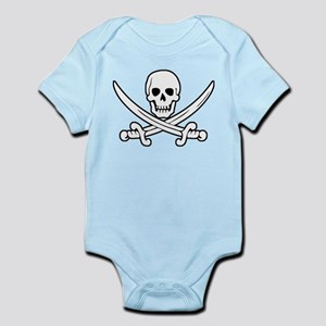 White Calico Jack Infant Bodysuit