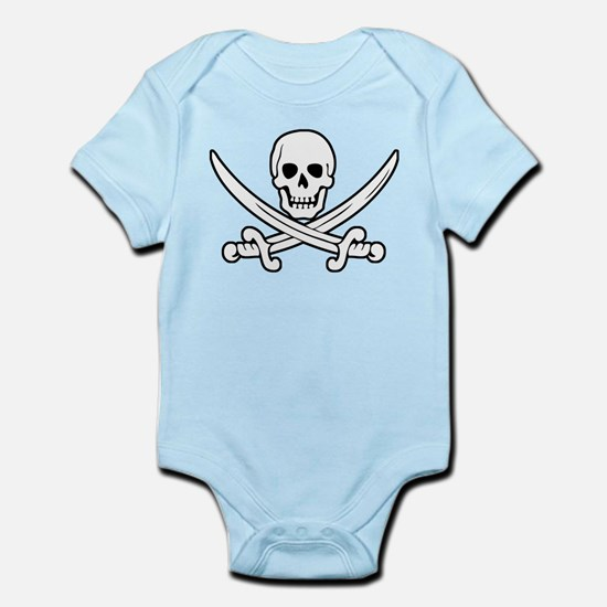 White Calico Jack Infant Bodysuit