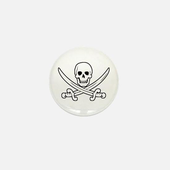 White Calico Jack Mini Button