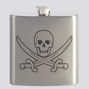White Calico Jack Flask