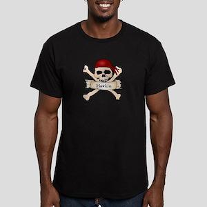 Personalized Pirate Skull Men's Fitted T-Shirt (da