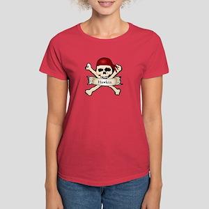 Personalized Pirate Skull Women's Dark T-Shirt
