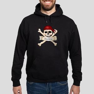 Personalized Pirate Skull Hoodie (dark)