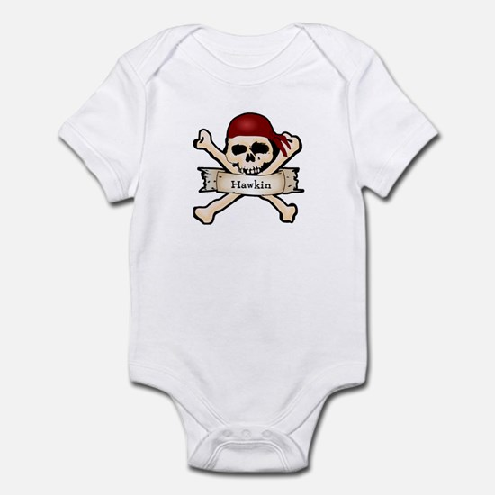 Personalized Pirate Skull Infant Bodysuit