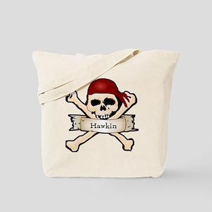 Personalized Pirate Skull Tote Bag