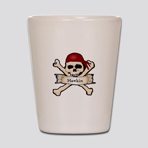 Personalized Pirate Skull Shot Glass
