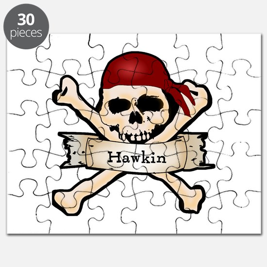 Personalized Pirate Skull Puzzle