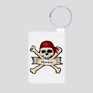 Personalized Pirate Skull Aluminum Photo Keychain