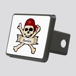 Personalized Pirate Skull Rectangular Hitch Cover