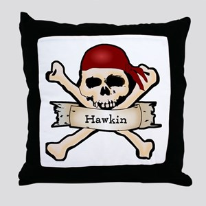 Personalized Pirate Skull Throw Pillow