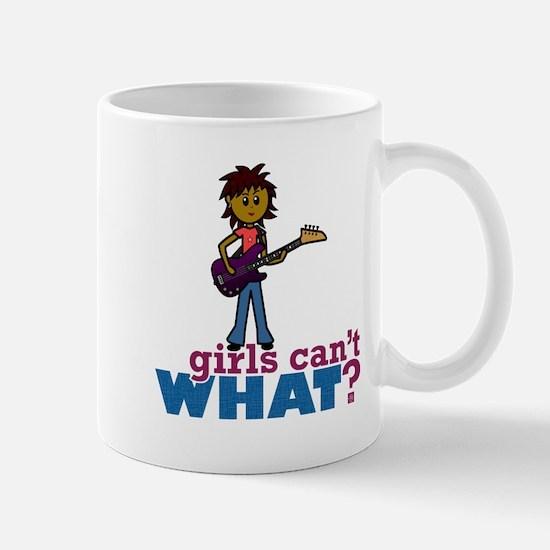 Girl Bass Guitar Player Mug