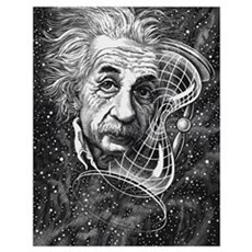 Albert Einstein, German physicist Poster