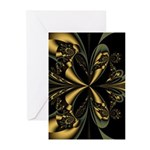 Gold Butterfly Note Cards (Pk of 10)