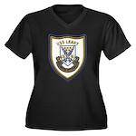 USS LEAHY Women's Plus Size V-Neck Dark T-Shirt