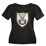 USS LEAH Women's Plus Size Scoop Neck Dark T-Shirt