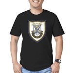 USS LEAHY Men's Fitted T-Shirt (dark)