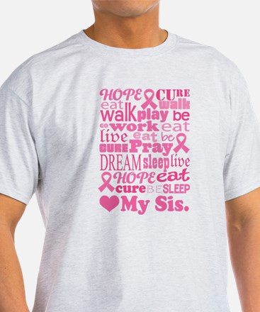 Breast Cancer Cure Sis T-Shirt