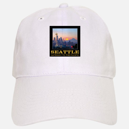 Seattle Gateway to the Pacific Baseball Baseball Cap