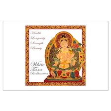 White Tara Bodhisattva III Large Poster