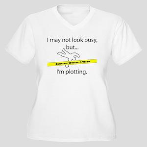 Beware: Plotting Writer Women's Plus Size V-Neck T