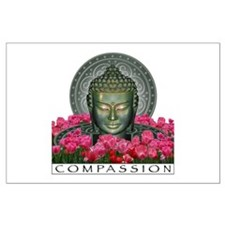 Garden Buddha Large Poster