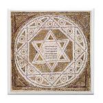 Leningrad Codex Tile Coaster