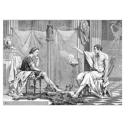 Alexander of Macedon and Aristotle Poster