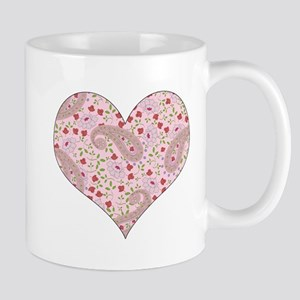 PINK PAISLEY HEART Mug