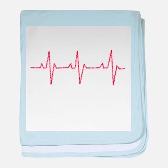 Heartbeat baby blanket