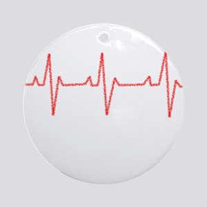Heartbeat Ornament (Round)