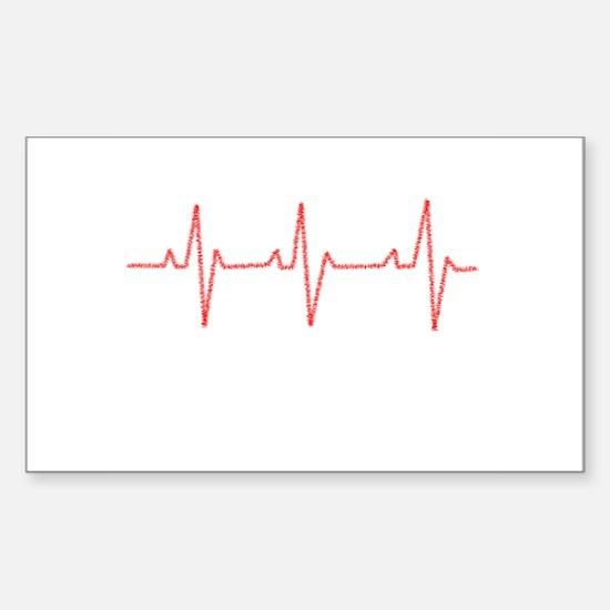 Heartbeat Sticker (Rectangle)