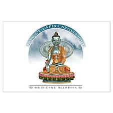 Lapis Lazuli Buddha Large Poster