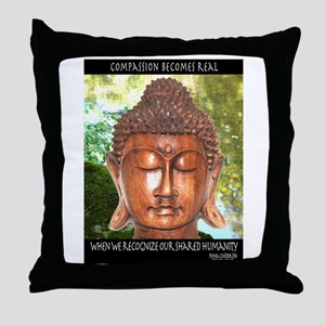 compassion becomes real Throw Pillow