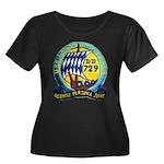 USS LYMA Women's Plus Size Scoop Neck Dark T-Shirt