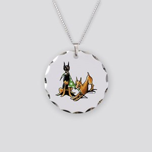 Min Pin Apples Necklace Circle Charm