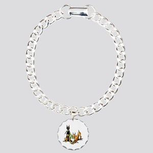 Min Pin Apples Charm Bracelet, One Charm