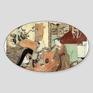 Jusan - Harunobu Suzuki - 1770 Sticker