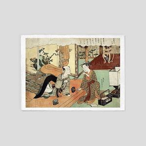 Jusan - Harunobu Suzuki - 1770 5'x7'Area Rug