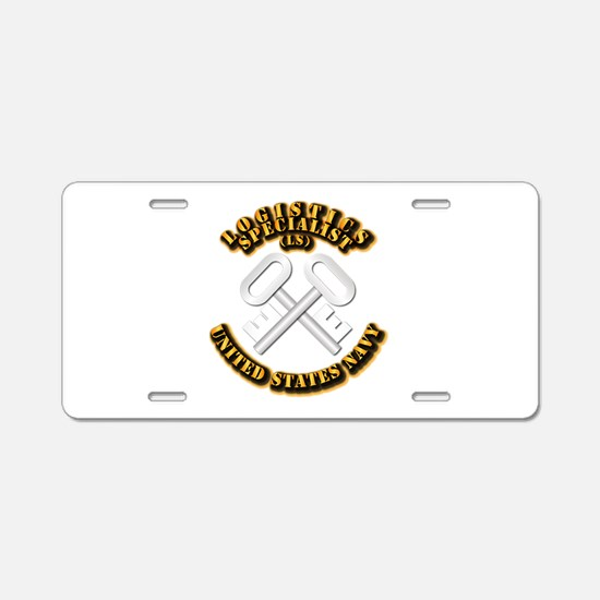 Navy - Rate - LS Aluminum License Plate