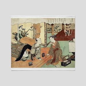 Jusan - Harunobu Suzuki - 1770 Throw Blanket