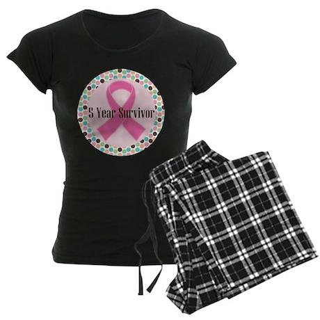 5 Year Breast Cancer Survivor Ribbon Women's Dark
