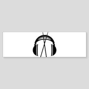 Cut And Dry Logo Black Sticker (Bumper)